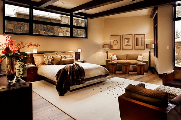 view in gallery double master bedroom in aspen home - Master Bedrooms