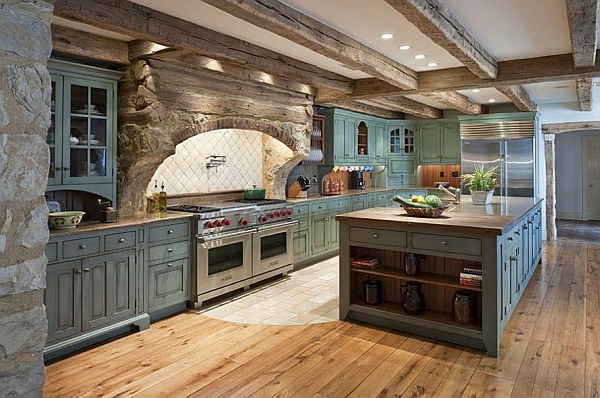 Decorating with a vintage farmhouse inspiration - Farmhouse style kitchen cabinets ...