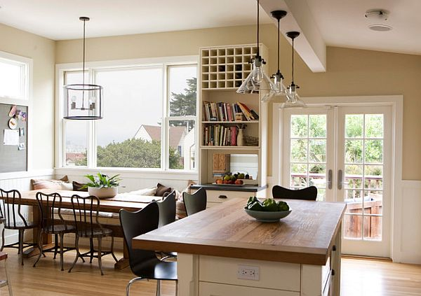 Farmhouse-kitchen-with-fancy-bistro-chairs