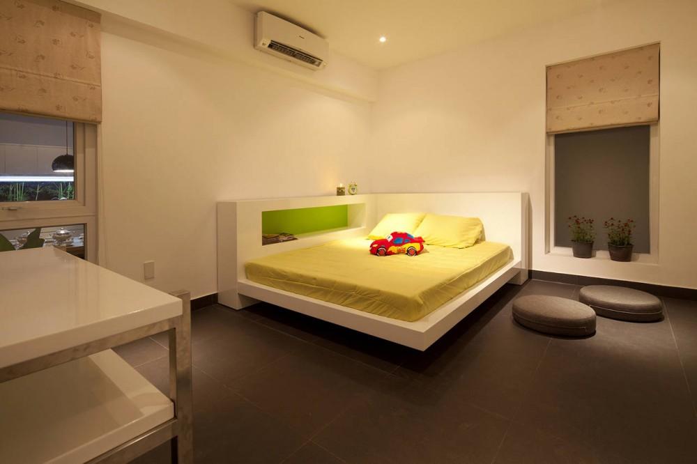 Go Vap Modern House – yellow minimalist kids bedroom