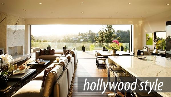 View In Gallery Stunning Living Room With Hollywood Flair