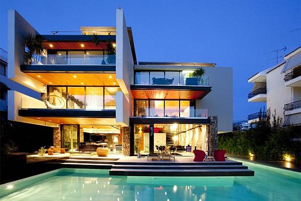 Luxury Greek Villa – pool view