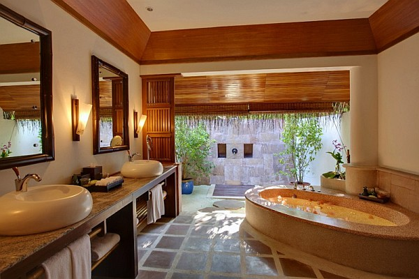 Kanuhura island resort breathtaking holiday travel option in the maldives - Amazing classic luxury bathroom inspirations tranquil retreat ...