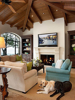 Modern Spanish inspired living room