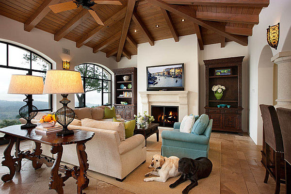 Spanish Living Room Design.  Decorating with a Spanish Influence