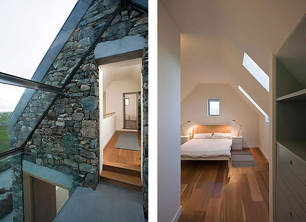 modern stone hut cottage bedroom design