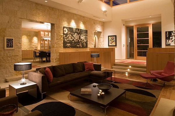 ... Cozy Contemporary Living Family Room By Jennifer Jelinek  Teardropsonroses.blogspot.com ...