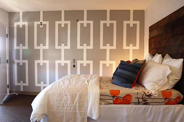 Paint and tape on the bedroom wall Top Professional Painting Tips