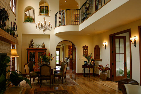 Spanish style living room decor