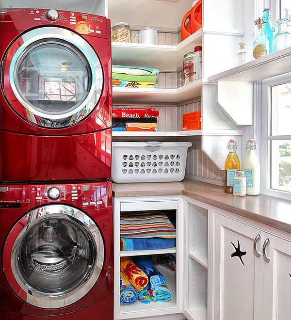 Stacking washer and dryer decoist - Washer dryer for small spaces gallery ...