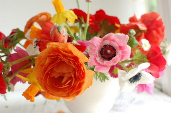 a vibrant modern floral arrangement