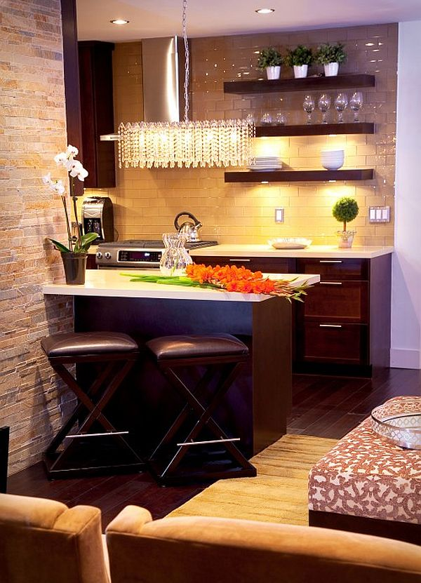 Apartment small kitchen design idea decoist for Tiny kitchen remodel