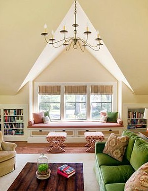 Paint the walls, add some lighting and colorful furniture - your attic conversion is complete