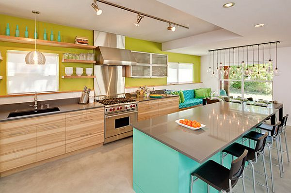 beach inspired colorful kitchen design Beach House Blues: Five Essentials to Creating the Seascape at Home