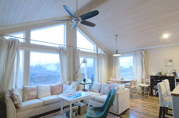 beachfront house interior design white wooden walls and cozy furniture Beach House Blues: Five Essentials to Creating the Seascape at Home