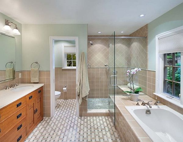 15 simple space saving solutions for Pictures of beautiful small bathrooms