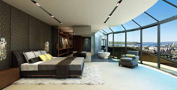 attic floor plan ideas - Penthouse style Bedrooms How to Decorate With a Sleek Theme