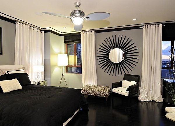 black and white penthouse bedroom decor Penthouse style Bedrooms: How to Decorate With a Sleek Theme
