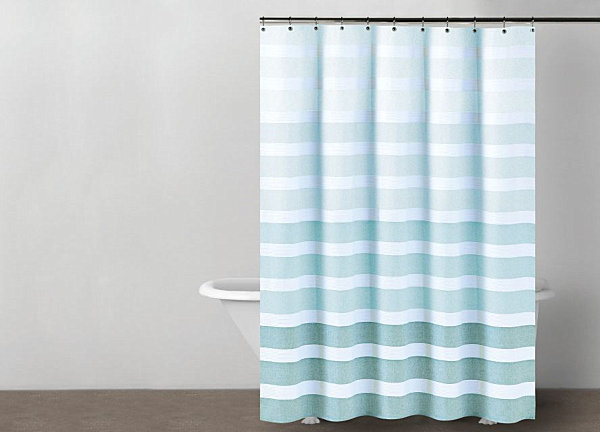 Blue And Green Kitchen Curtains Gray Stripe Shower Curtain