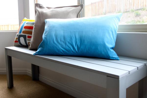 blue ombre pillow