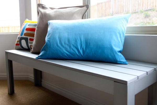 blue ombre pillow
