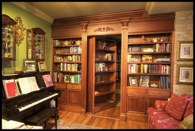 bookshelves hidden door Three Ways To Introduce The Bookshelf Doorway To Your Home