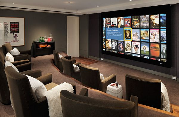 9 awesome media rooms designs decorating ideas for a for House plans with media room