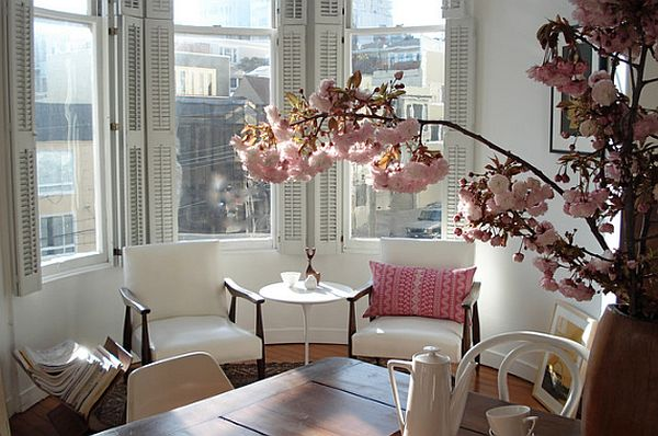 city apartment decorating with pink blossoms Pretty in Pink: Decorating Your Home With Tinges of Pink