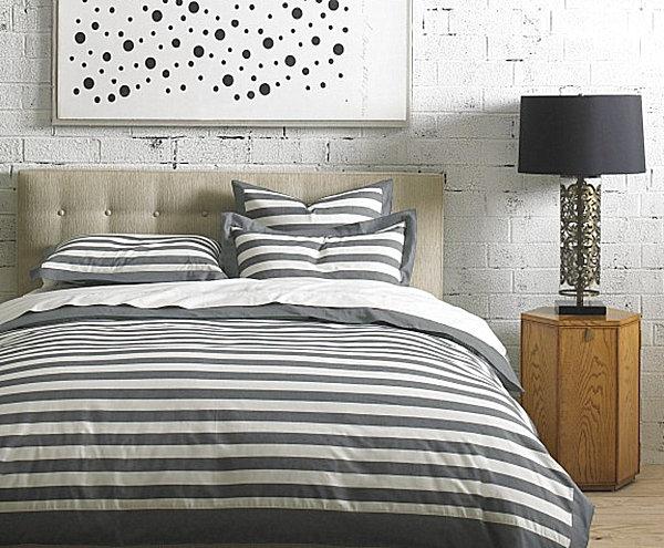 classic striped bedding