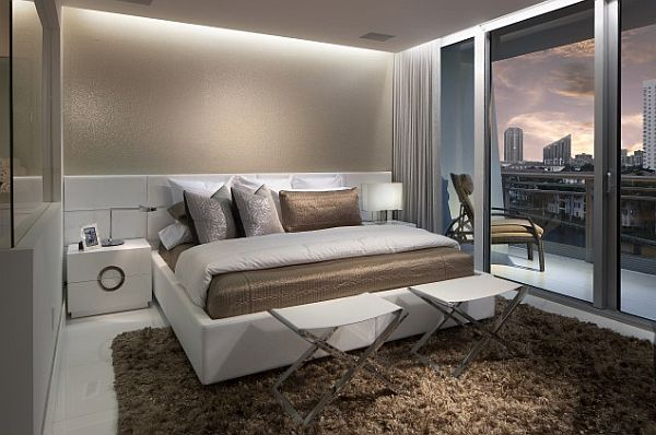 comfy penthouse bedroom design Penthouse style Bedrooms: How to Decorate With a Sleek Theme