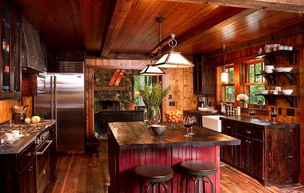 Decorating With A Country Cottage Theme Mesmerizing Cabin Kitchen Design Style