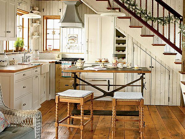 Cottage Kitchen Design decorating with a country cottage theme