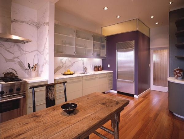 Decorating with purple purple rooms designs for Natural wood kitchen designs