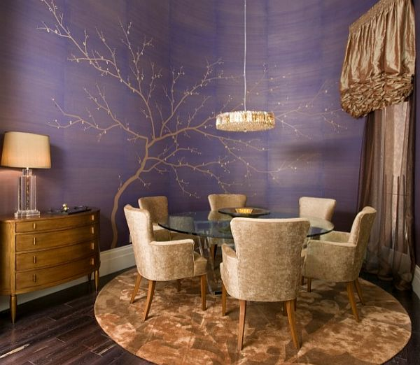 Dining Room Wall Ideas: Decorating With Purple: Purple Rooms Designs