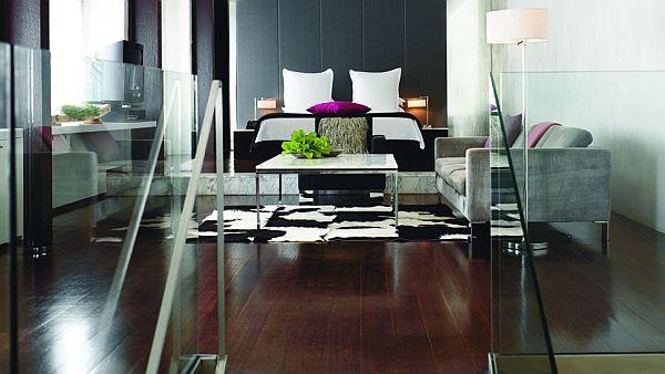 ecclectic penthouse bedroom design