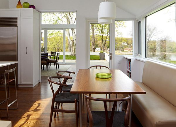 elegant bistro chairs in bright and airy kitchen