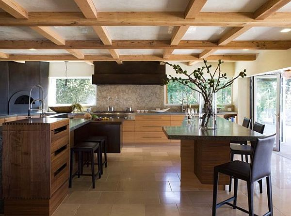 Decorating ideas for homes with low ceilings for Decorative beams in kitchen