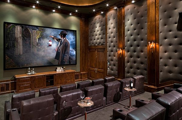 great movie room with lounge feel
