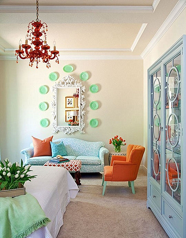 Green Orange Small Apartment Living Room Decor: BACK TO: Pastel Interior Design That Takes The Cake