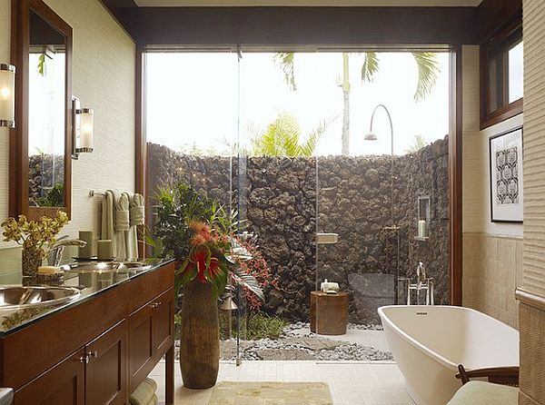hawaii inspired tropical bathroom Things to Consider Before Choosing Bathroom Tiles