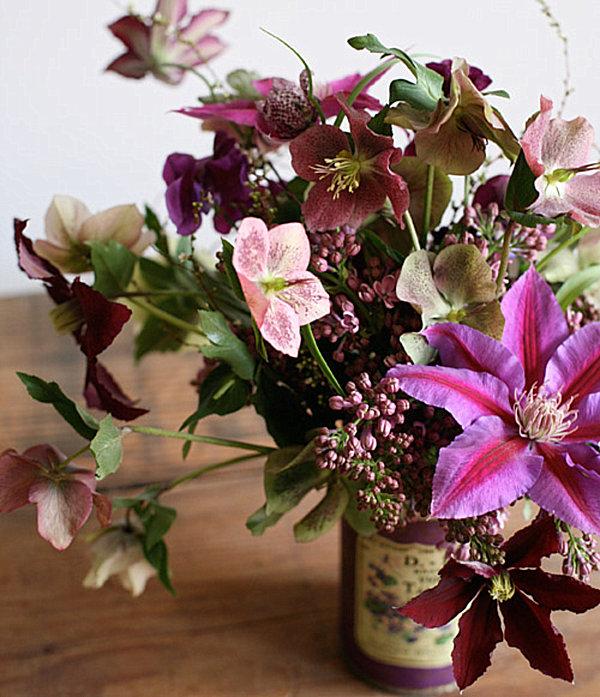 hellebores floral arrangement