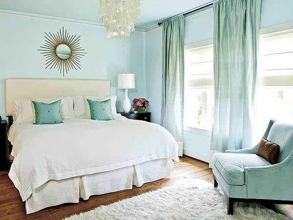 ice blue bedroom
