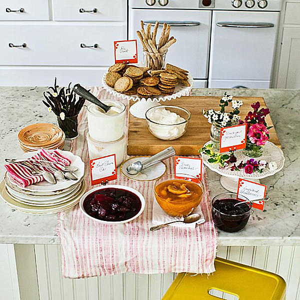 Party Table Setting Ideas 2012 new years eve dinner party table setting ideas 5 Ice Cream Social
