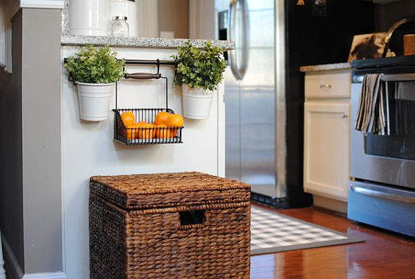 kitchen with decorative mail baskets for hiding clutter 3 Tricks for Hiding Unsightly Clutter