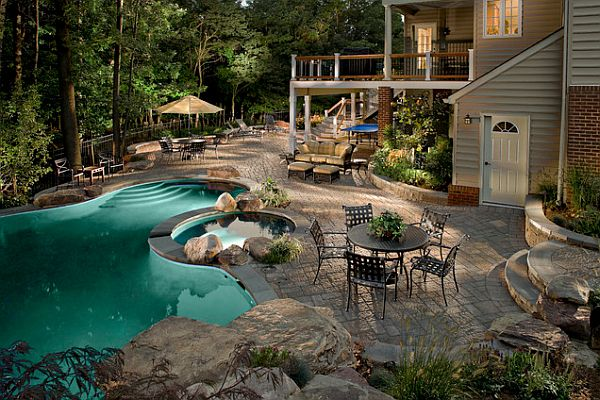 Backyard Retreat Ideas canton backyard backyard pool swimming pool miller landscape woodstock ga Luxurious Backyard Retreat