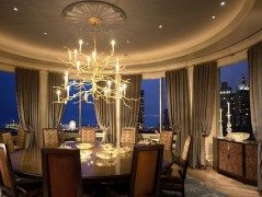 Lake Shore Drive Penthouse - luxurious round room design
