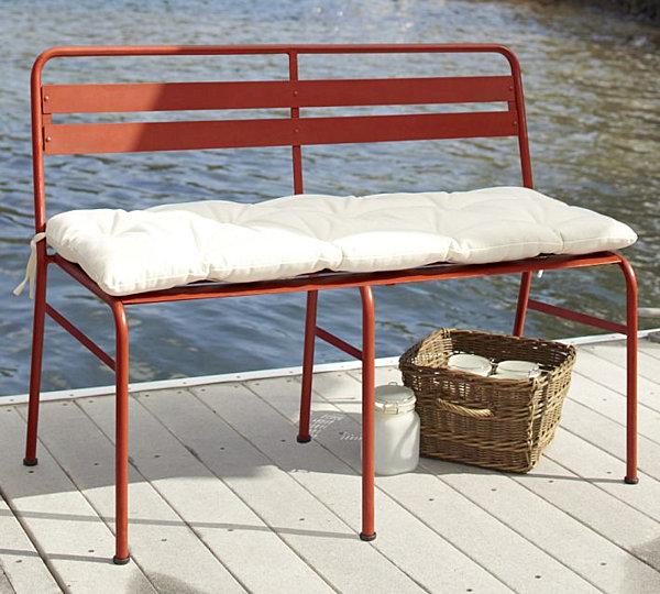 Metal bistro bench benches - Garden bench ideas complete piece heaven ...