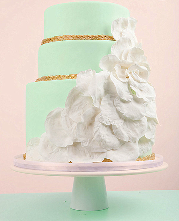 mint green modern cake Pastel Interior Design That Takes the Cake