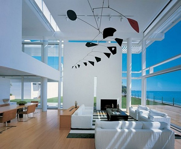 California modern beach house interiors House interior