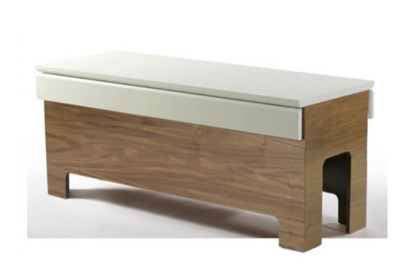 modern bench to hide your cats litter box How to Hide Your Cats Litter Box